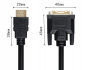 Preview: DVI-D auf HDMI Adapter Kabel 2m